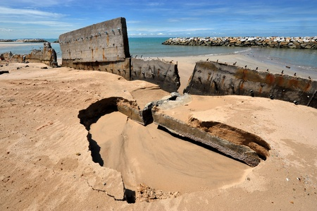 shore erosion, rayong ,thaialnd  photo