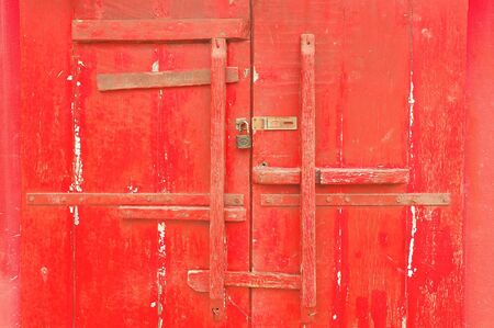 The Red Door of joss house photo
