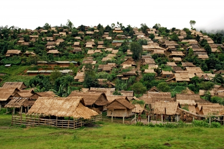 Refugee camp, mae sod, tak, thailand  photo
