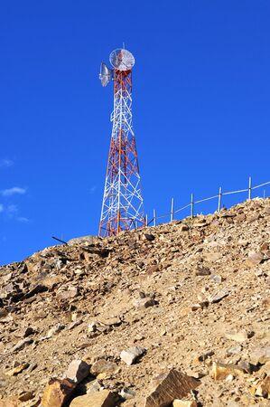 Tower of telecommunications on mountain, leh, ladakh, india Stock Photo - 9399878