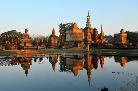 Wat Mahathat in Sukhothai Historical park, Thailand  photo