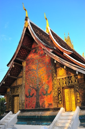 Wat xiang thong,temples in Laos photo