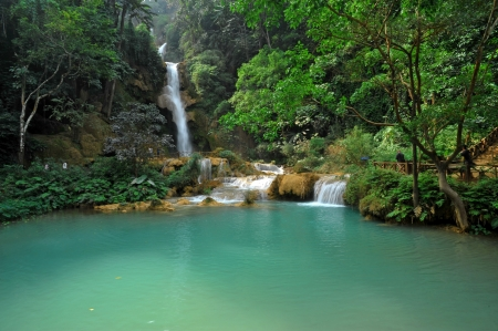Kuang Xi Falls, luang prabang, Laos photo
