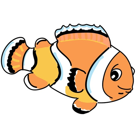 orange anemonefish cartoon photo