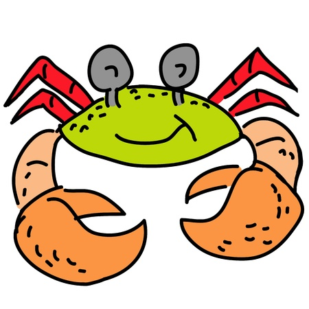 hermit crab cartoon Stock Photo - 16388230