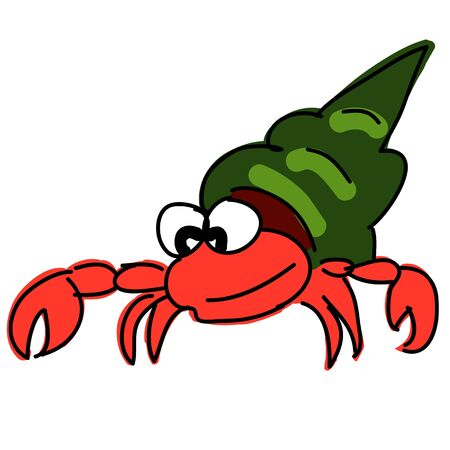 hermit: red hermit crab  Stock Photo