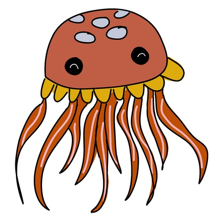 cute jellyfish cartoon Stock Photo - 16388232