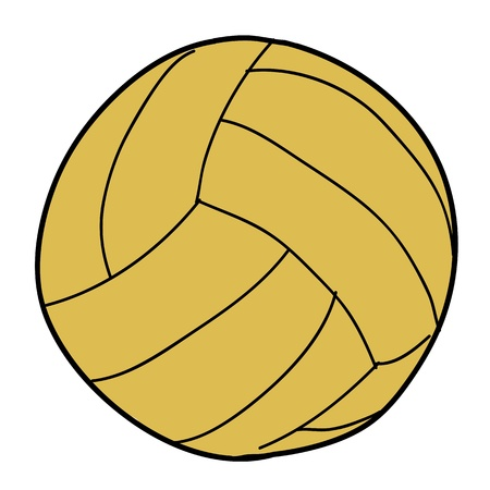 polo ball: vector illustration of water polo ball