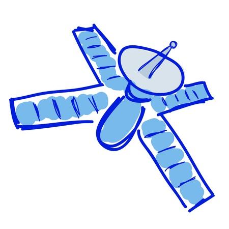 cartoon satelite hand draw  Stock Vector - 16603952