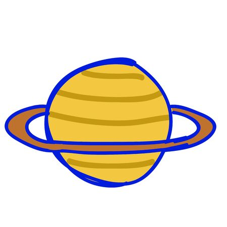 Saturn illustration, isolated Vector