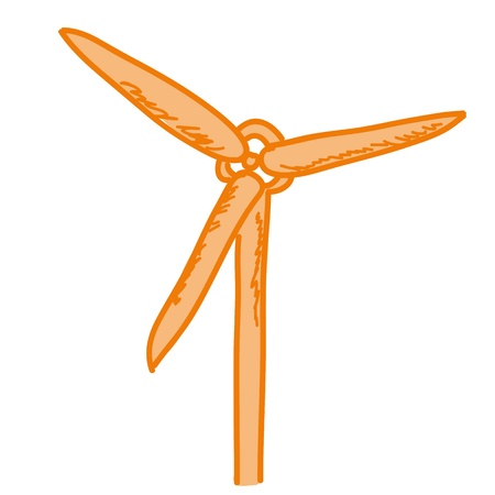 a cartoon representing a wind generator  Stock Vector - 16603949