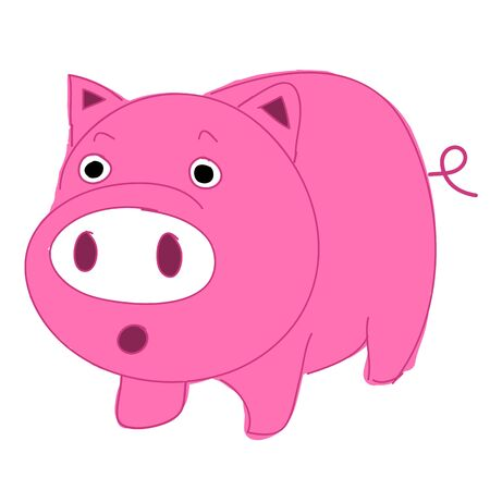Cute, fun and funny cartoon pig  Stock Vector - 16645597