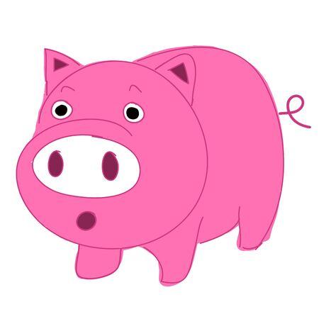 Cute, fun and funny cartoon pig Stock Vector - 16645597