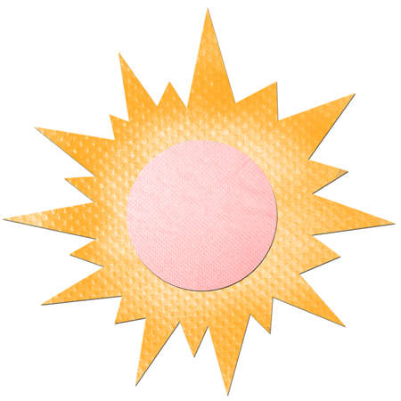 The sun made from tissue papercraft