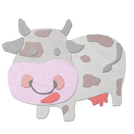 tissue papercraft: cow made from tissue papercraft