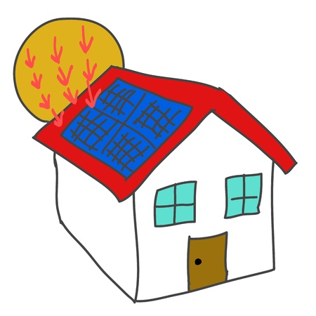 solar panel roof: solar energy house