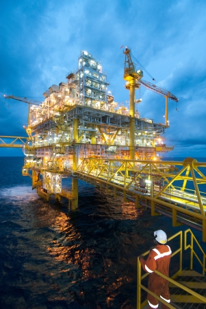 oilrig: Oil and gas transfer platforms