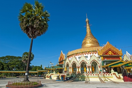 Kaba Aye Pagoda in Rangoon, Myanmar