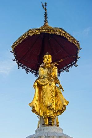 Buddha statue on top of pagoda around Shwedagon Pagoda - Yangon,Burma Stock Photo - 17209788