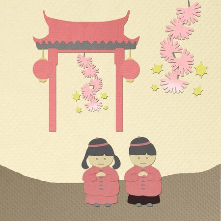 tissue papercraft: chinese new year greeting from tissue paper-craft