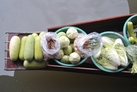 vegetable in traditional floating market , Thailand Stock Photo - 17441942