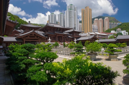 Chi lin Nunnery, Tang dynasty style Chinese temple, Hong Kong  Stock Photo - 17887773