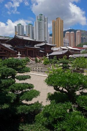 Chi lin Nunnery, Tang dynasty style Chinese temple, Hong Kong  Stock Photo - 17887800