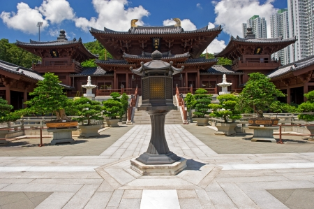 Chi lin Nunnery, Tang dynasty style Chinese temple, Hong Kong  Stock Photo - 17887783