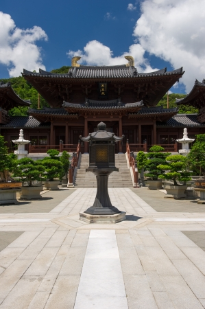 Chi lin Nunnery, Tang dynasty style Chinese temple, Hong Kong  Stock Photo - 17887619