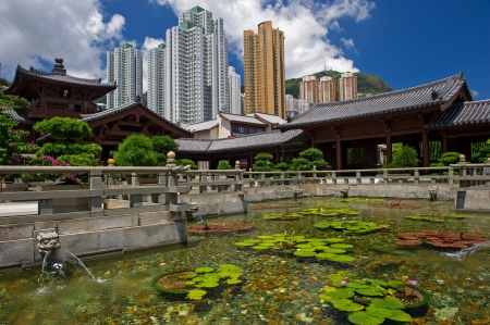 Chi lin Nunnery, Tang dynasty style Chinese temple, Hong Kong Stock Photo - 17887867