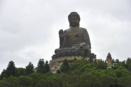 Tian Tan Buddha - The worldss tallest outdoor seated bronze Buddha located in Lantau Island, Hong Kong, China