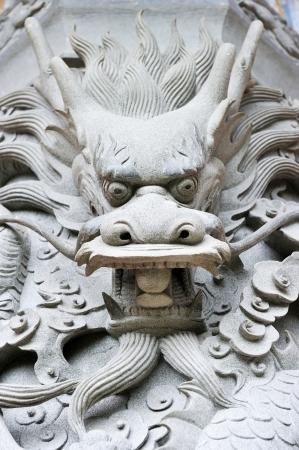 Dragon head carving near the Big Buddha in Hong Kong Stock Photo - 17888159