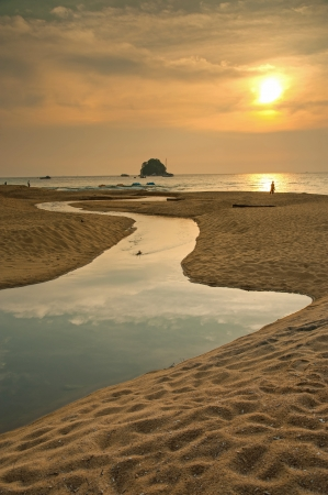 Sunset in Tioman island, Malaysia  photo