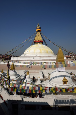Boudhanath Stupa in the Kathmandu valley, Nepal  Stock Photo - 18777006