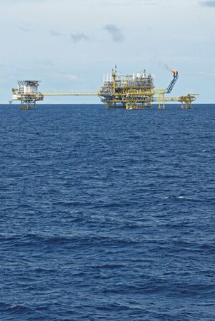 oilrig: Oil and gas drilling platform