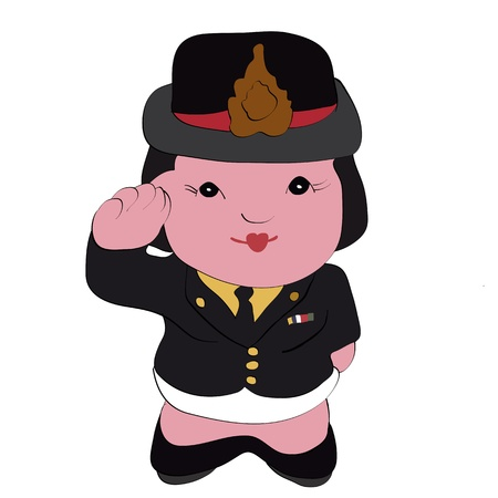 Cute cartoon illustration of a policewoman  illustration
