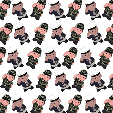 the soilders  seamless pattern on white background photo