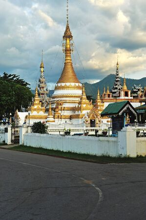Wat Jong Klang in Maehongson,province North of Thailand  photo
