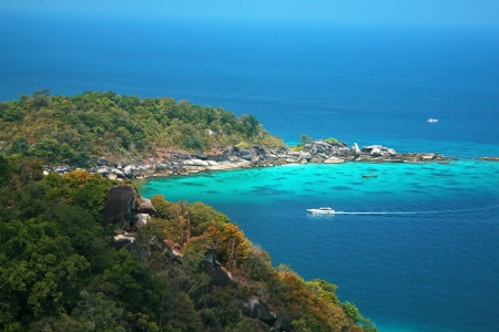 famous viewpoint of Similan Islands Paradise Bay, Thailand  photo