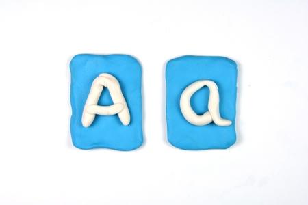 monotype: plasticine letter a