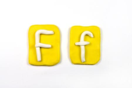 plasticine letter f Stock Photo - 20072323