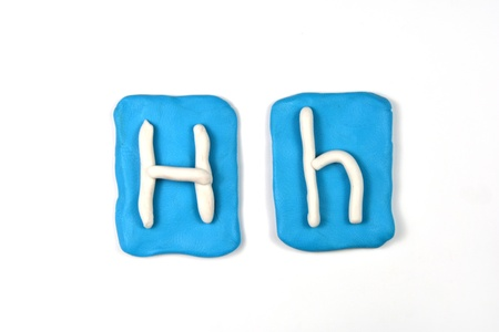 plasticine letter h Stock Photo - 20072339