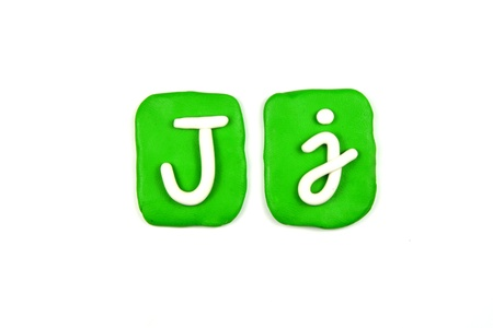 plasticine letter j Stock Photo - 20072292