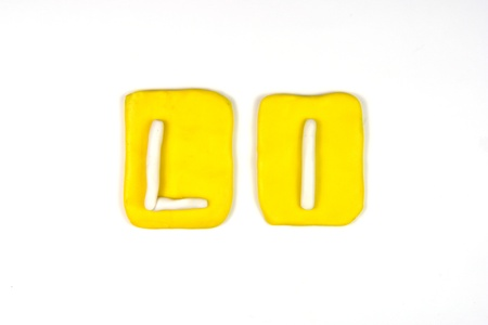 plasticine letter l Stock Photo - 20072293