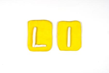 plasticine letter l Stock Photo - 20072293