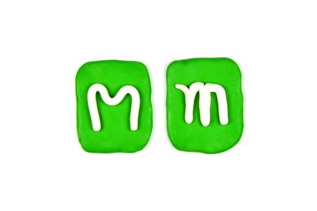 plasticine letter m
