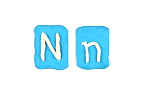 plasticine letter n Stock Photo - 20072295