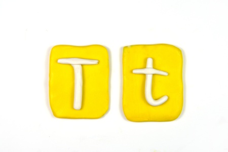 plasticine letter t Stock Photo - 20072320