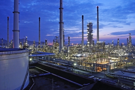 Refinery industrial plant in Thailand.  photo