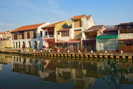 melacca: view on malacca port in Malaysia